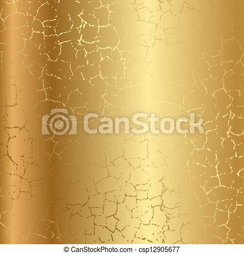 barsten, goud, textuur - csp12905677