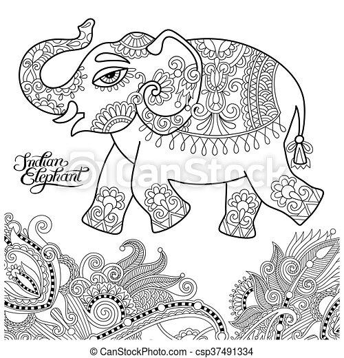 Barvivo Dospeli Kresleni Bo Indian Etnicky Radka Slon