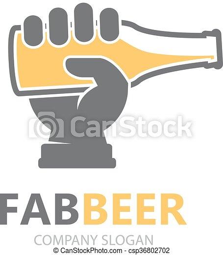 Barzinhos Bar Mao Cerveja Vetorial Desenho Garrafa Template