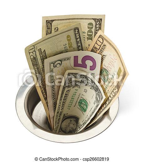 bas, argent, drain - csp26602819