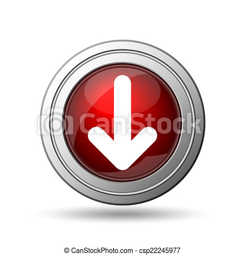 bas flèche, icône - csp22245977