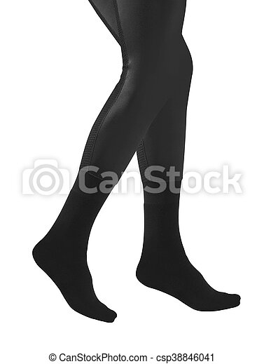 bas, jambes, femme - csp38846041