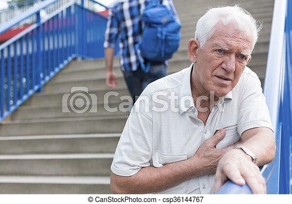 bas, marche, escalier, homme - csp36144767