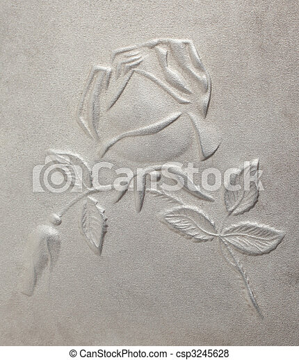 bas-relief depicting roses on the metal - csp3245628