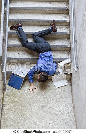 bas, tomber, escalier, homme - csp0429074