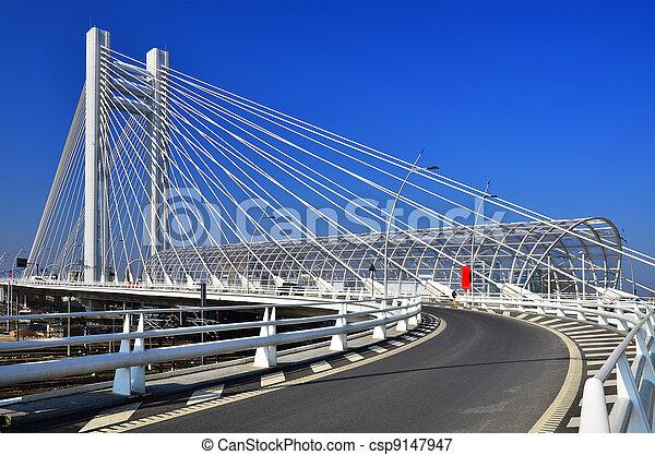 Basarab Overpass brigde in Bucharest, Romania - csp9147947