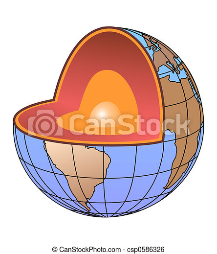 El núcleo de la Tierra - csp0586326