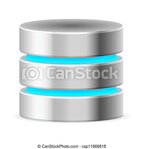 base, données, icône - csp11666818