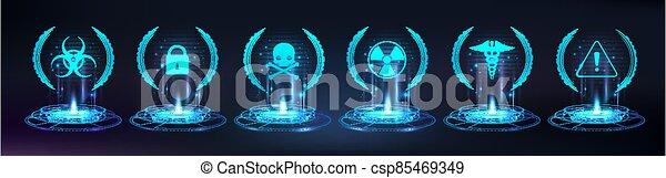 base, point de contrôle, jeu, hologramme - csp85469349