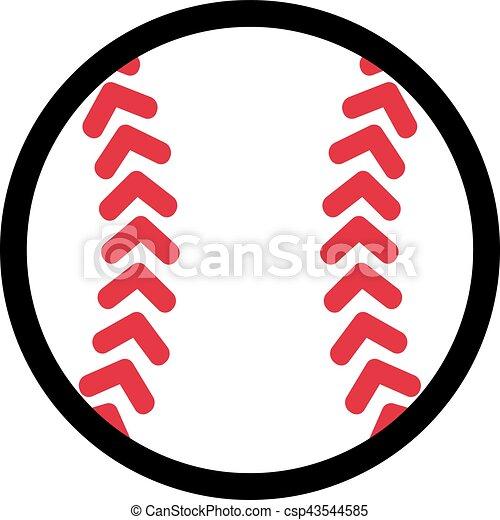 Baseball 2 Colors Pic - csp43544585