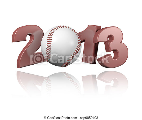 Baseball 2013 design - csp9859493