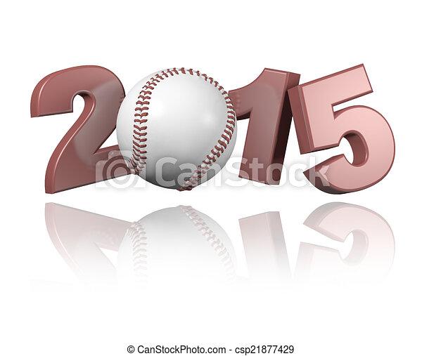Baseball 2015 design - csp21877429