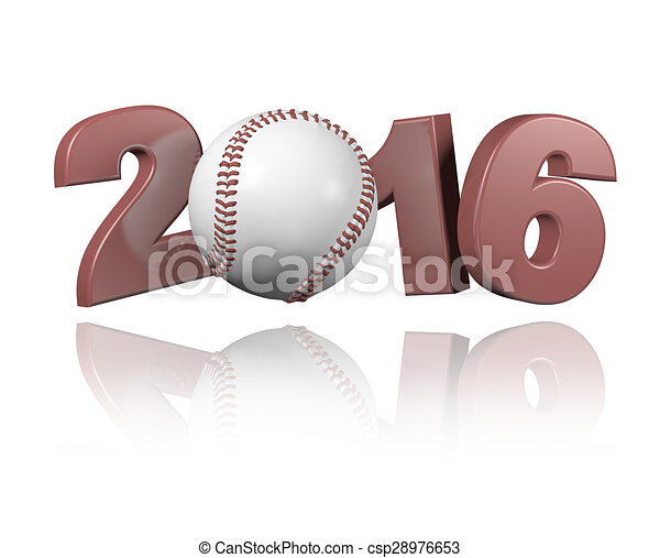 Baseball 2016 design - csp28976653