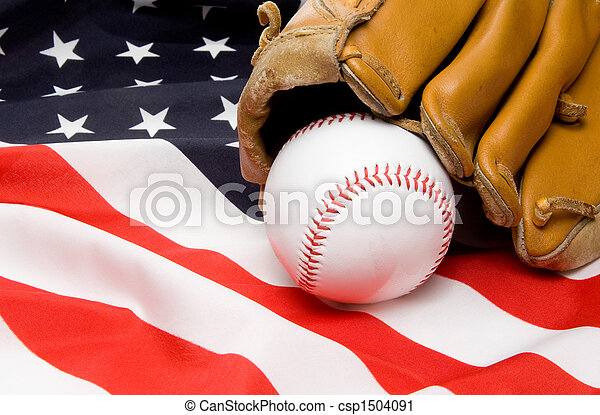 Baseball and Glove - csp1504091