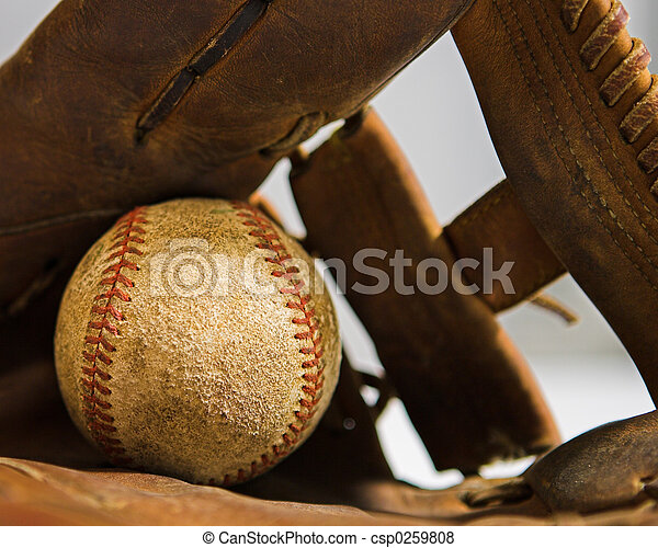 Baseball and Glove - csp0259808