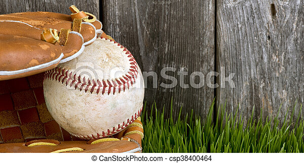 Baseball and Glove. - csp38400464