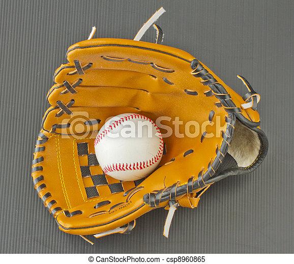 Baseball and glove - csp8960865