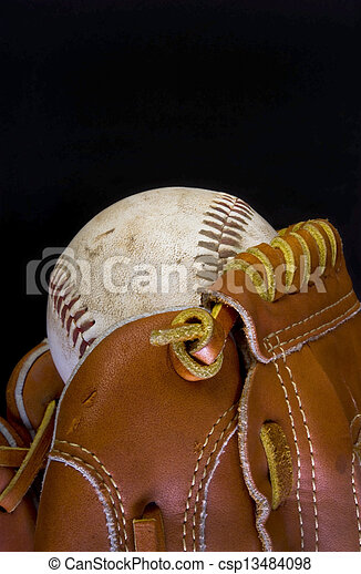 Baseball and Glove. - csp13484098