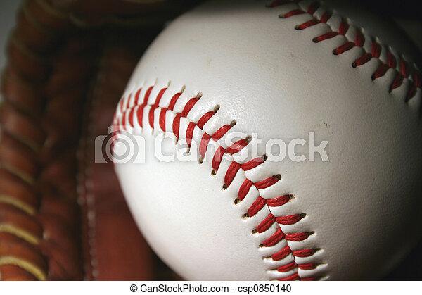 Baseball and glove - csp0850140