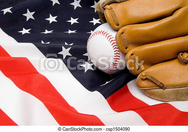 Baseball and Glove - csp1504090