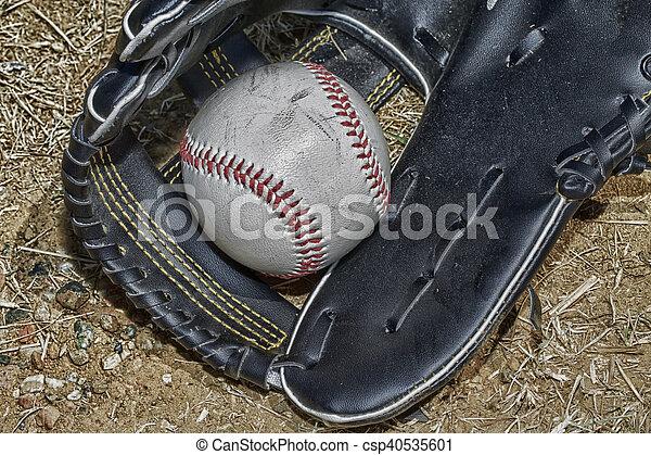 Baseball and glove - csp40535601