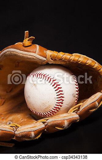 Baseball and Glove - csp34343138