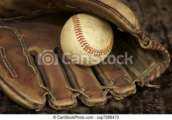 Baseball and Glove - csp7288473