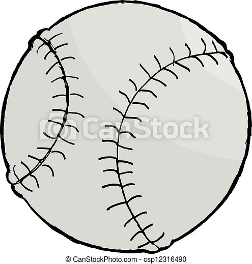 hand drawn vector cartoon image of baseball ball eps vectors rh canstockphoto com baseball glove and ball clipart baseball glove and ball clipart