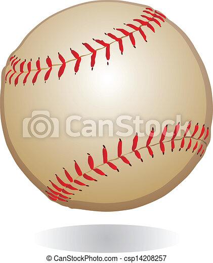 Baseball Ball Vintage Clipart Vector