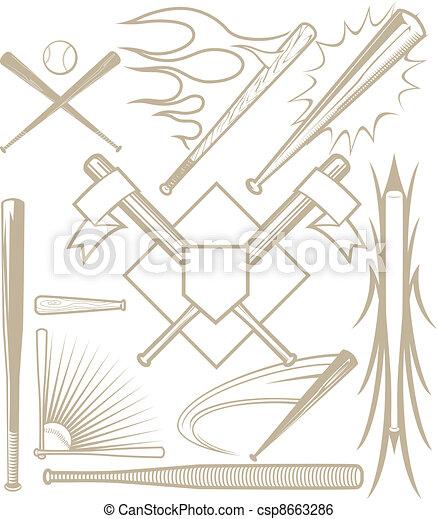 Baseball Bat Collection - csp8663286
