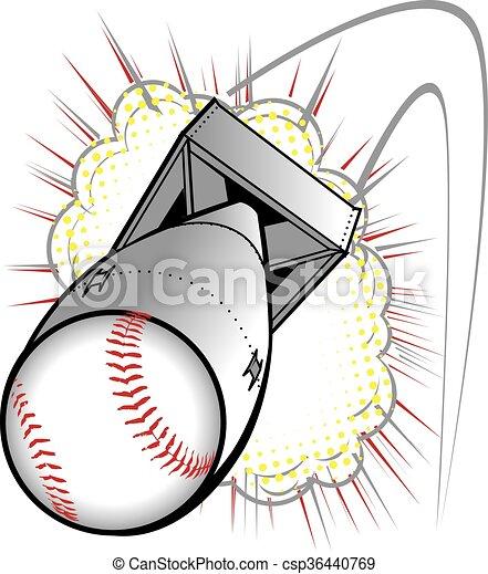 Baseball Bomb - csp36440769