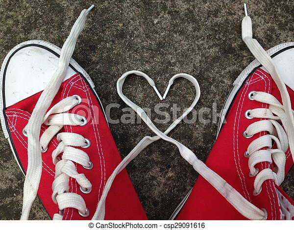baseball boots sneakers love heart - csp29091616