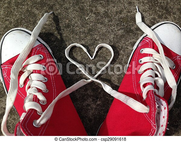 baseball boots sneakers love heart - csp29091618