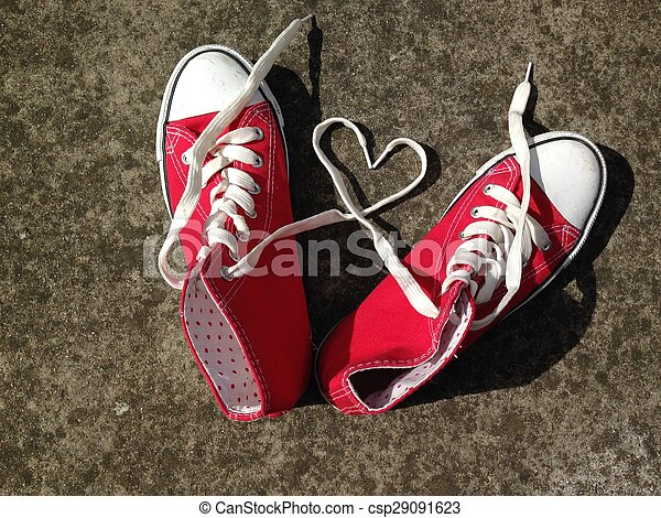 baseball boots sneakers love heart - csp29091623