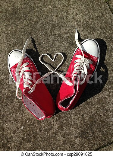 baseball boots sneakers love heart - csp29091625