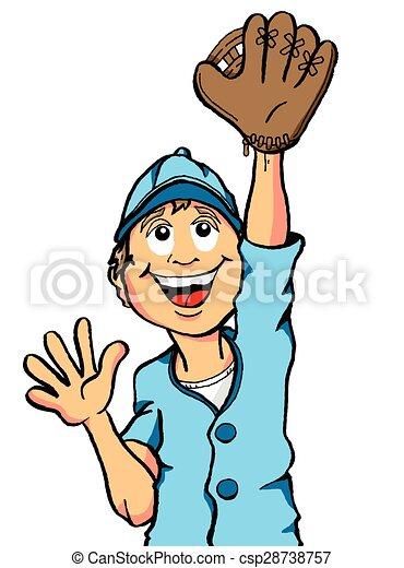 Baseball Boy Catch - csp28738757