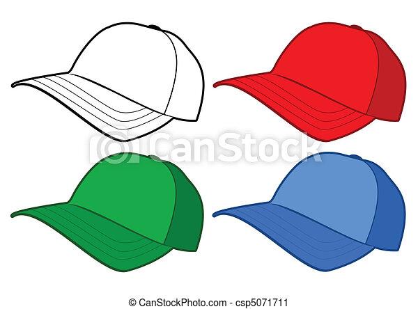 Baseball cap vector template. - csp5071711