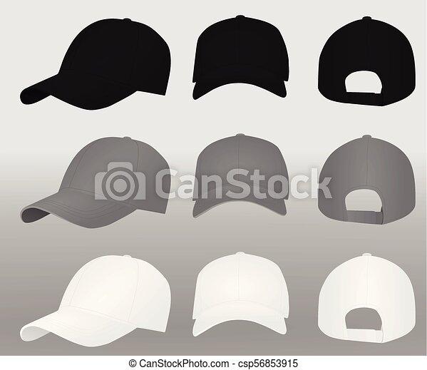 979947e5821 Baseball caps vector.