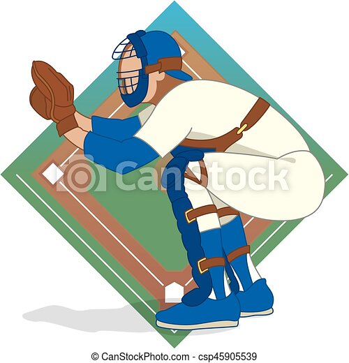 baseball catcher - csp45905539