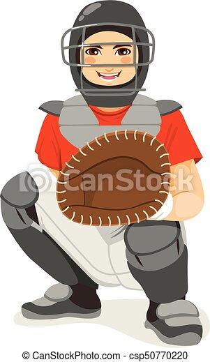 Baseball Catcher - csp50770220
