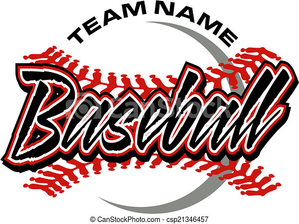 baseball design with red stitches clipart vector search rh canstockphoto com baseball graphics for t shirts baseball graphic tees