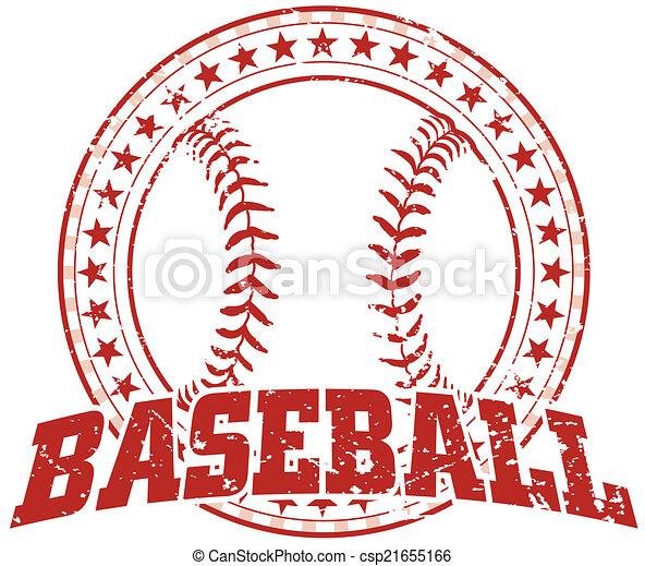 Baseball Design - Vintage - csp21655166