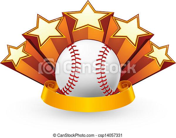 Baseball Emblem, vector - csp14057331