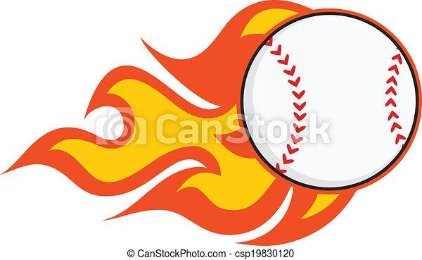 baseball, fiammeggiante - csp19830120