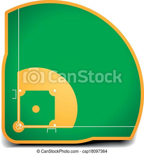 detailed illustration of a baseball field eps10 vector rh canstockphoto com Baseball Player Vector baseball field vector clipart