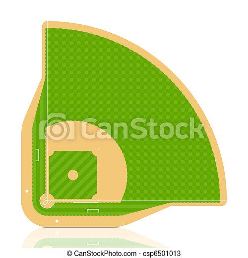 baseball field vector detailed portrayal of grass vectors rh canstockphoto com baseball field clipart black and white Baseball Field Drawing