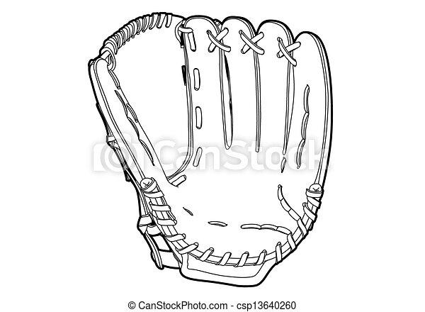 Baseball glove - csp13640260
