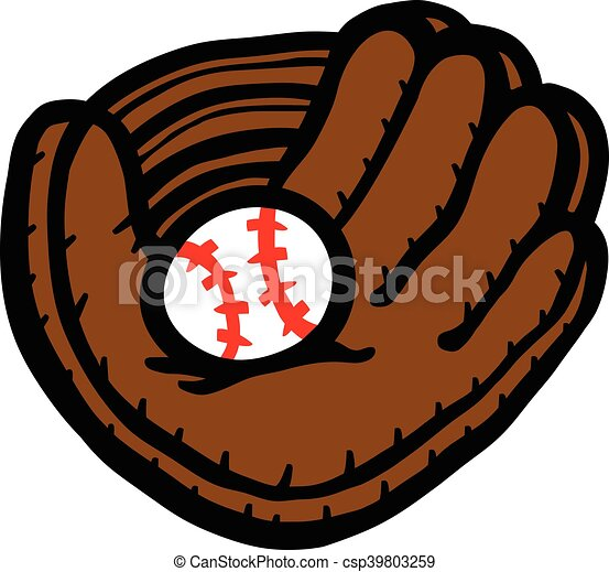 baseball glove rh canstockphoto com baseball glove clip art black and white baseball glove free clip art