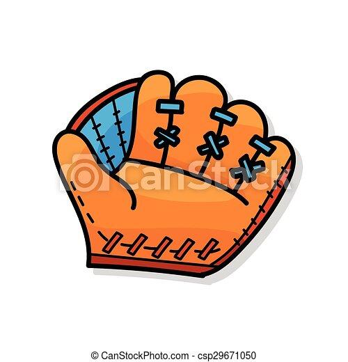 Baseball glove doodle - csp29671050