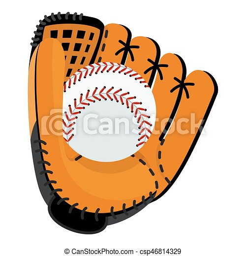 baseball glove with ball baseball equipment softball glove rh canstockphoto com baseball glove and ball clip art baseball glove clip art free